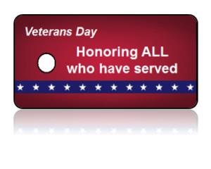 Veterans Day Appreciation Key Tags