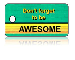 Fun Kids Awesome Key Tags, Green