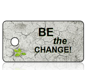 Be the Change- Green Plant in Cement