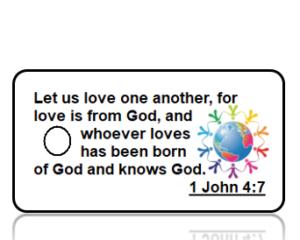 1 John 4:7 Bible Scripture Key Tags