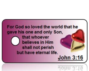 John 3:16 Bible Scripture Key Tags