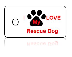 Love Rescue Dog Key Tags