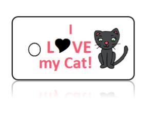 Love Cat Key Tags