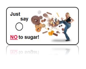 Refuse Sugar Motivational Donuts Design Key Tags