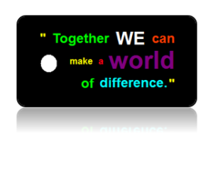 Make Difference Together Motivational Key Tags