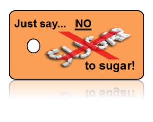 Refuse Sugar Motivational Key Tags