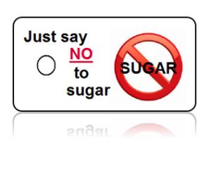 Refuse Sugar Motivational White Design Key Tags