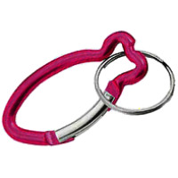 Carabiners Fish Shape Red