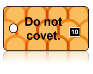 10th Commandment Bible Scripture Orange Key Tags