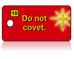10th Commandment Bible Scripture Red Key Tags