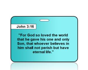 John 3:16 Bible Scripture Bag Tags