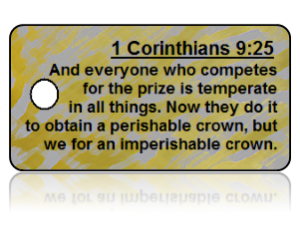 1 Corinthians 9:25 Bible Scripture Key Tags