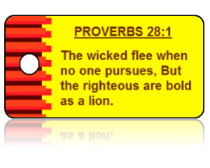 Proverbs 28:1 Bible Scripture Key Tags