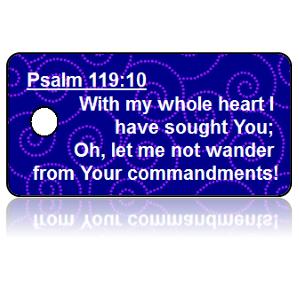 Psalm 119:10 Bible Scripture Key Tags