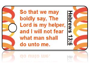 Hebrews 13:6 Bible Scripture Key Tags