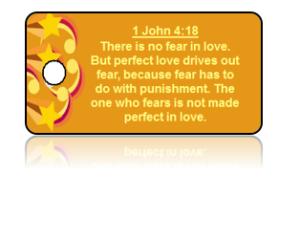 1 John 4:18 Bible Scripture Key Tags
