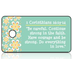 1 Corinthians 16 vs 13-14 - Golden Daisy Border