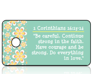 1 Corinthians 16 vs 13-14 - Golden Daisy Border