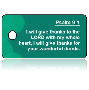 Psalm 9:1 Bible Scripture Key Tags