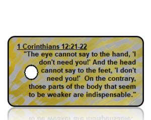 1 Corinthians 12:21-22 Bible Scripture Key Tags