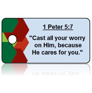 1 Peter 5:7 Bible Scripture Key Tags