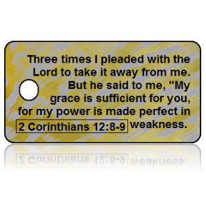 2 Corinthians 12:8-9 Bible Scripture Key Tags