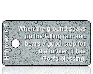 Hebrews 6 vs 7 - Blue Rain Drops