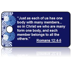 Romans 12:4-5 Bible Scripture Key Tags