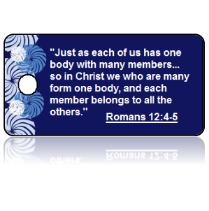 Romans 12:4-5 Bible Scripture Key Tags