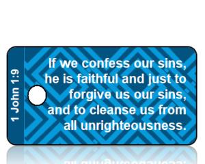 1 John 1:9 Bible Scripture Key Tags