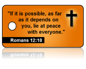 Romans 12:18 Bible Scripture Key Tags
