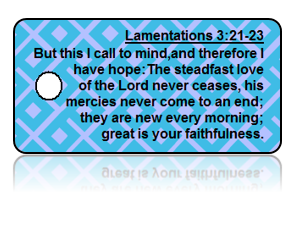 Lamentations 3:21-23 Bible Scripture Key Tags