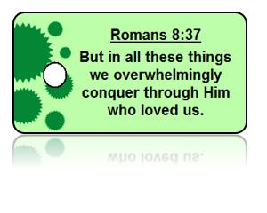 Romans 8:37 Bible Scripture Key Tag