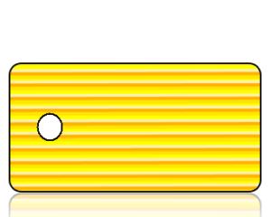 Create Design Key Tags Yellow Orange Mini Stripe Pattern
