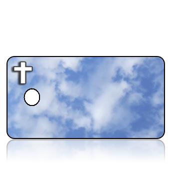 ScriptureTagBlankD5 - Build IT - Blue Clouds White Cross
