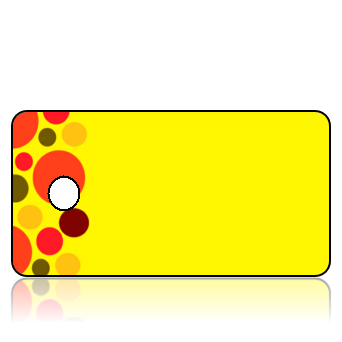Create Design Key Tags Bright Yellow Background Fun Colored Circles