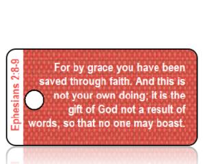 Ephesians 2 vs 8-9 - Red Linen