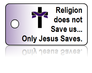 Jesus Saves Inspirational Key Tags
