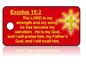Exodus 15:2 Holiday Scripture Key Tags