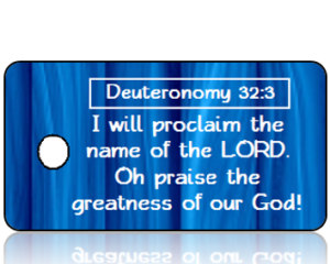 Deuteronomy 32 vs 3 - Modern Blue Wood Panel