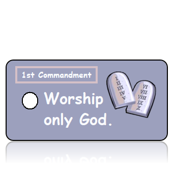 ScriptureTagCO1T -1st Commandment - Stone Commandment Scroll