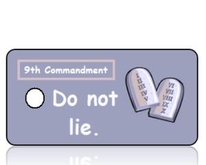 Ten Commandments 9