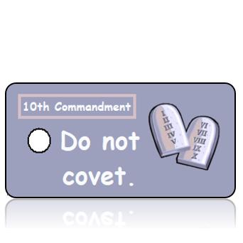 ScriptureTagCOM10T - 10th Commandment - Stone Commandment Scroll