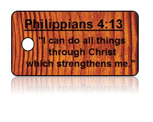 Philippians 4:13 Bible Scripture Key Tags