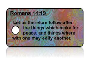 Romans 14:19 Bible Scripture Key Tags