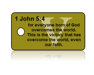 1 John 5:4 Bible Scripture Key Tags