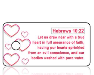 Hebrews10 vs 22 - Red Heart Border