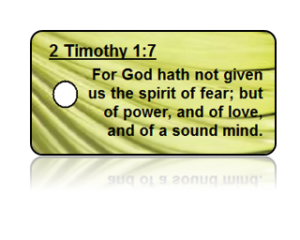 2 Timothy 1:7 Bible Scripture Key Tags