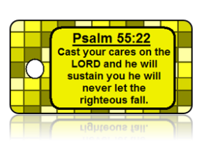 Psalm 55:22 Bible Scripture Key Tags