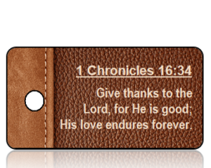 1 Chronicles 16:34 Bible Scripture Key Tags (NIV)
